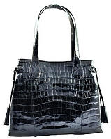 Alligator BKT Ferrini Purse Black/Cognac