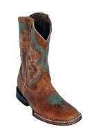 Ferrini Kid's Aster Cowboy Boot in Antique Saddle