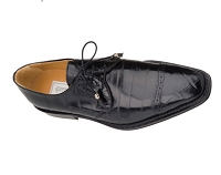 Ferrini Classic Belly Alligator Black Dress Shoe