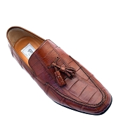 Ferrini Crocodile Slip On Loafer