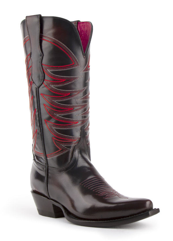 Ferrini Ladies Spitfire Black/Cherry V-Toe