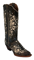 Ferrini Ladies Dazzle Distressed Chocolate V-Toe