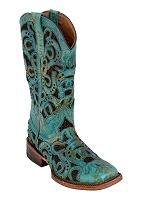 Ferrini Ladies Horseshoe Turquoise S-Toe