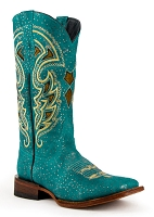 Ferrini Ladies Shimmer Turquoise S-Toe