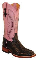 Ferrini Woman's Hornback Caiman Crocodile S-Toe> 12