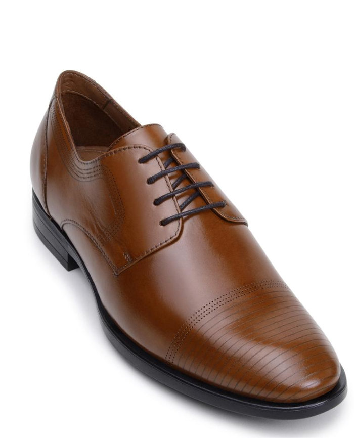 Belvedere Jackson II Tan & Burgundy Soft Italian Nappa Leather Shoes