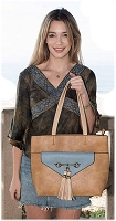 Liz Soto 3295 Lisa two in one convertible tote - Multiple Colors