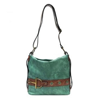 Liz Soto Anna 3233 Cross Body Handbag in Teal / Black or Grey