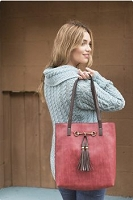 Liz Soto 3272 Jane two in one horse bit tote - Multiple Colors