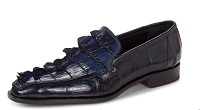 Mauri Orefici Baby Crocodile & Hornback Tail Loafers 4770 Wonder Blue