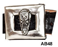 Mauri - AB48 Gator Head Buckle - Silver or Gold