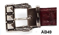 Mauri - AB49 Gator Head Buckle - Silver or Gold