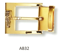 Mauri - AB32 Gator Head Buckle - Silver or Gold