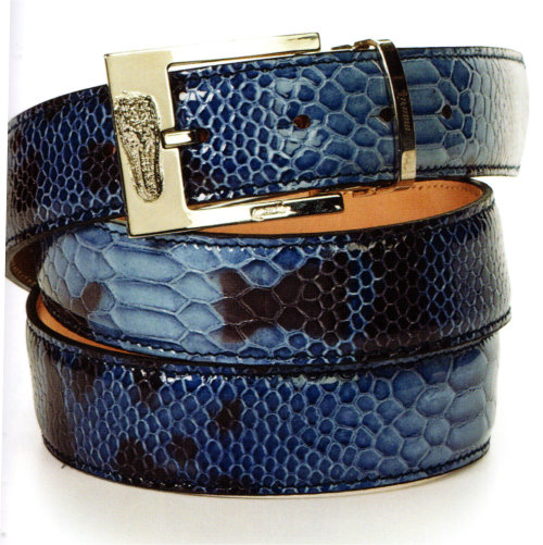 Mauri - Patent Leather Malabo Blue (Belt Only)