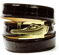 Mauri - Body Alligator Hand Painted Sport Rust (Belt Only)