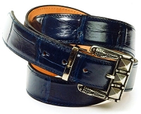 Mauri - Body Alligator Hand Painted Wonder Blue (Belt Only)