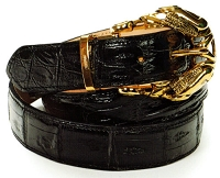 Mauri - Baby Crocodile Hand Painted Black (Belt Only)