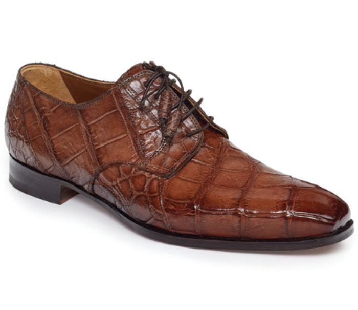 Mauri Palladio Body Alligator Hand Painted 1059 Burnished Sport Rust