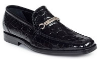 Mauri Spada Body Alligator Loafers 4692 Black