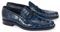 Mauri Spada Body Alligator Wonder Blue Loafers 4692 Wonder Blue