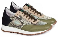 Mauri Boccioni Calf / Python Print / Suede M728 Green or Orange