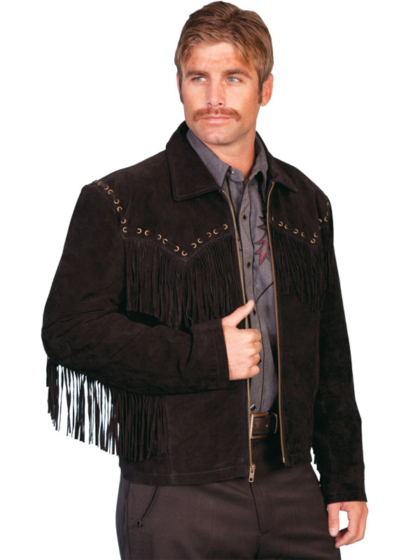 Scully Leather Boar Suede Fringe Jacket