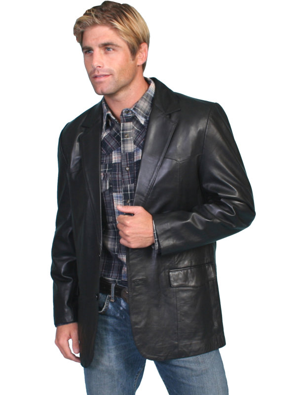 Scully Leather Lambskin Blazer in Multiple Colors