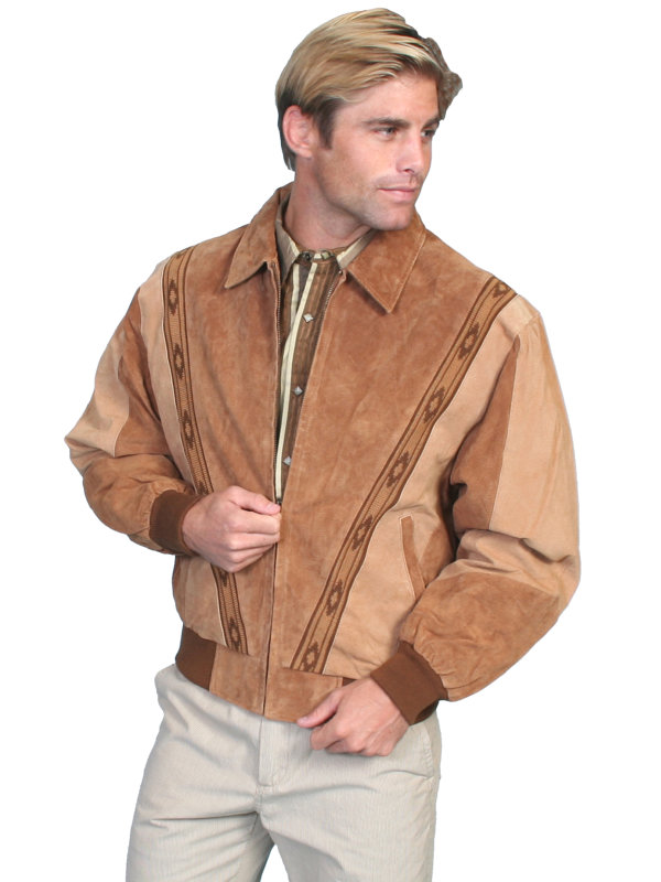Scully Leather Two-Toned Boar Suede Rodeo Jacket in Multiple Color