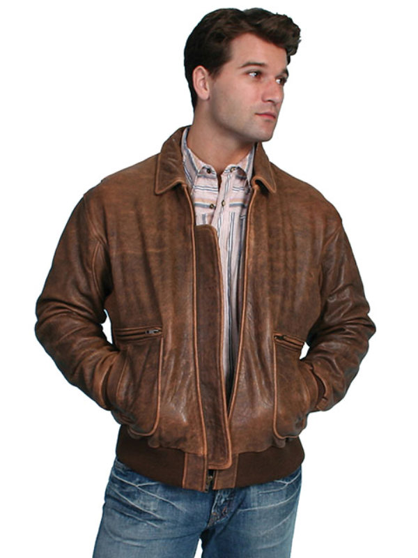 Scully Antique Lamb Bomber Jacket