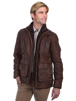 Scully Leather Buffed Lamb Car Coat