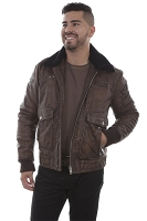 Scully Vintage Leather Eagle Jacket in Brown