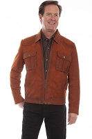 Scully Suede Jacket in Copper
