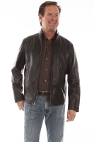Scully Black Lamb Leather Jacket