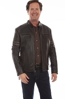 Scully Black Rugged Lamb Leather Jacket