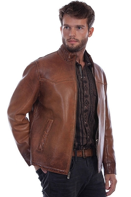 Scully Cognac Leather Jacket