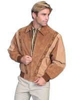 Scully Leather Two-Toned Boar Suede Rodeo Jacket in 3-Colors