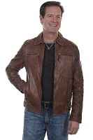 Scully Zip Front Leather Jacket 2 Colors