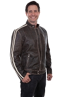 Scully Sanded Calf Motorcycle Racing Jacket
