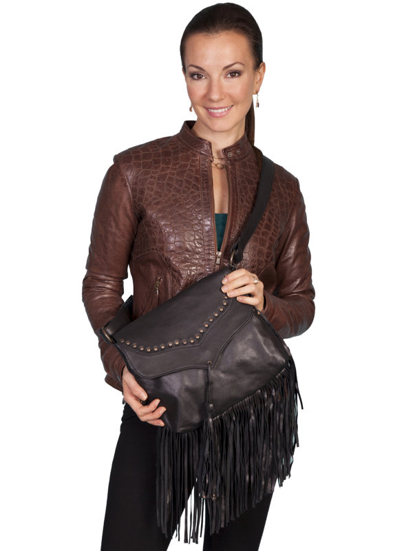 Scully Western Soft Leather & Fringe Handbag