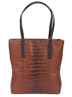 Scully Leather Ladies Handbag CROCO/ OSTRCH/ ETRUSCO/ LIZARD