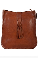 Scully Leather Handbag with Whip Stich