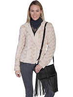 Scully Western Leather & Suede Handbag