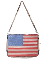 Scully Western Suede Flag Handbag