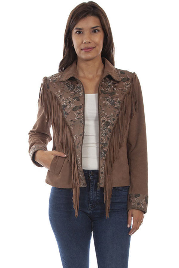 Scully Suede Fringe & Beaded Jacket