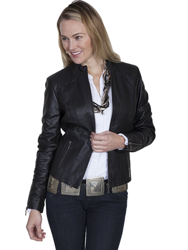 Scully Leather Ribbed Leather Jacket