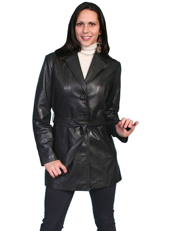 Scully Leather Classic Thigh Length Coat