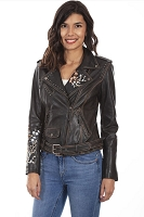 Scully Embroidered Studded Motorcycle Jacket