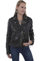Scully Leather Studded Motorcycle Jacket