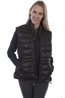 Scully Leather Ribbed Reversible Leather Vest