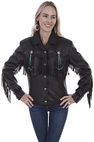 Scully Leather Fringe & Beaded Jacket